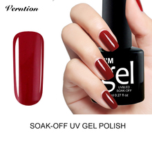 Verntion Uv Gel Nail 29 Colors 8ml UV Gel Nail Polish Color Soak Off Gel Varnish Nail Primer Semi Permanent Top and Base Glue Uv(China)