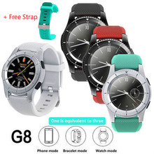 G8 Smart Watch Bluetooth 4.0 SIM Card Clock Phone Heart Rate Blood Pressure With A Free Strap For iOS Android PK G6 G3