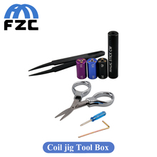 6 in 1 Universal Tools Wire Coiling Tool CW Tool Box RDA Coil Vape Tool Box Vape jig Kit Wire Coiling Machine koiler Kit