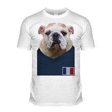 Handsome Men Great Quality Funny Man Cotton France Footballer Bulldog T-Shirt Bull Dog T Shirt French Puppy 2017 European