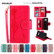 "For Samsung Galaxy S8 Plus G955 Case Leather Wallet Flip Magnetic Cover Girl Embossed Mobile Phone Cases For Galaxy S8 Plus 6.2""(China)"