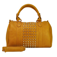 New Arrival Rivets Women's Boston Tote Bag Fashion One shoulder Handbag VK1317