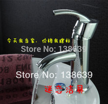 free shipping modern brass chromed bathroom sink mixer faucet,single handle single hole washbasin tap,discount product