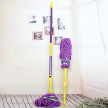 Telescopic Microfiber Mop Head Retractable Magic Mop Rotating Twist Water Mops Floor Cleaner Household Cleaning Tools Purple