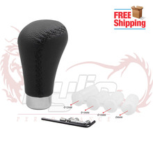 Free shipping Universal Leather Shifter Shift Knob High Quanlity Gear Knob Car-covers SK094(China)