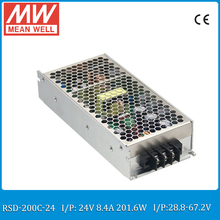 Original MEAN WELL RSD-200C-24 200W 8.4A 24V railway dc dc converter Input 28.8~67.2VDC meanwell dc dc isolated converter 24V(China)