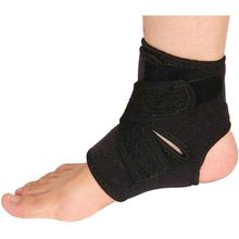 Outdoor Sport Black Adjustable Ankle Foot Ankle Support Elastic Brace Guard Football Basketball Equipment