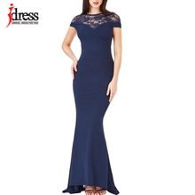 IDress New Sexy Lace Vintage Mermaid Elegant Long Maxi Dress Formal Party Women Gown Special Occasion Dresses 2018 Vestido Longo(China)