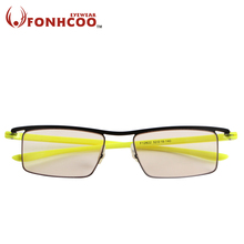 2017 FONHCOO Plus large Computer goggles square Anti Blue ray Radiation protection Anti eye fatigue Professional Gaming glasses