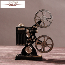 Hot Selling Creative Vintage Projector Model Retro Resin Crafts Bar Decor Home Decoration Accessories Antique Art Collections(China)