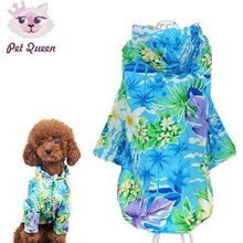 Printed Summer small Dog cat pet beach T shirt vest Clothes jacket coat Hawaii style dog puppy hoodie Sportswear soccer jersey(China)