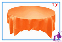 "10pcs Satin Table Overlay Cloth 70"" Square Wedding Party Supply Colors New"
