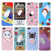 FLOVEME For iPhone 7 7 Plus iPhone 5S 5 Case Cute Squishy 3D Cartoon Phone Case For iPhone 6 6S iPhone 6 Plus SE 5s Accessories(China)