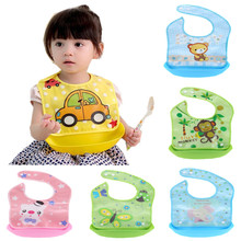 Cartoon Newborn Baby Bibs Silicone Waterproof Baby Feeding Bib Boy Girl Bavoir Bib Infantil Menina Baberos Bebes Bandana Apron(China)