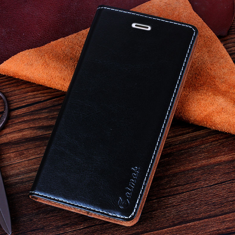 huawei honor 6c case free shipping new 2018 arrival luxury business retro genuine leather cover for huawei honor 6c Enjoy 6s(China)