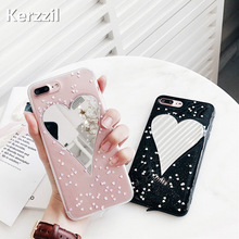 Buy Kerzzil Heart Mirror Surface Phone Case iPhone 7 6 6s plus Shining Love Heart Soft Back Cover Cases iPhone7 6 6S 8 Plus for $2.29 in AliExpress store