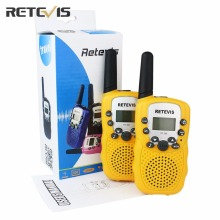 A Pair Retevis RT-388 Mini Walkie Talkie Kids Radio 0.5W 8/22CH LCD Display Amateur Two-way Radio Talkly Children Transceiver(China)