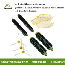 Hepa Filters Bristle&Flexible Beater Brush Side Brushes Kits for iRobot Roomba 500 Series 527 528 530 532 535 540 555 560 562