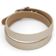Keep Collective Microfiber Leather Bracelet Double Band 43cm Reversible Wrap Bracelet fit Slide Charms SCB036(China)