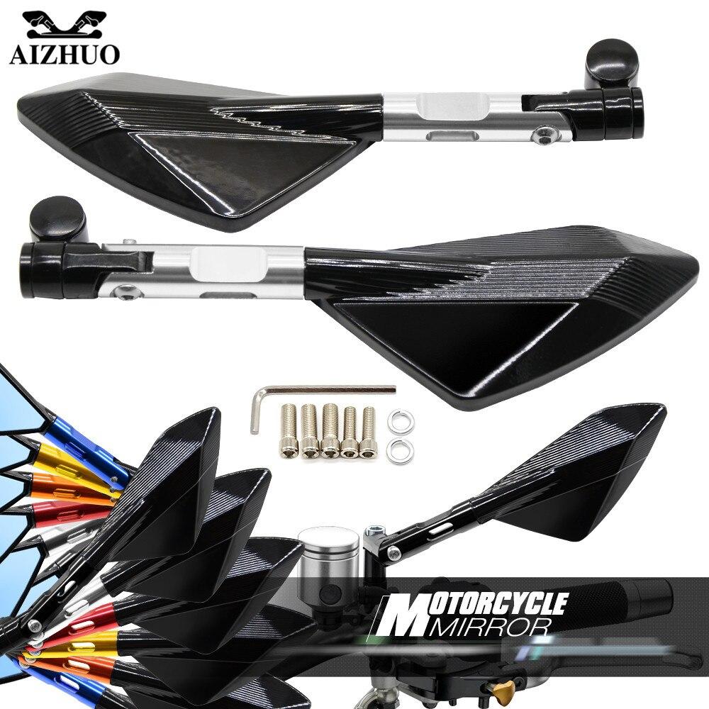 1 Pair Moto Motorbike Motorcycle Rearview Side Mirror FOR YAMAHA YZF R1 XJR1300 FJR 1300 FZ1 FAZER FZR 600/FZR 600R FZ600 TRX850