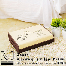 New arrival Zakka Wholesale Thick non-woven 24 grid socks storage box/Finishing bedroom/Korean creative home decoration