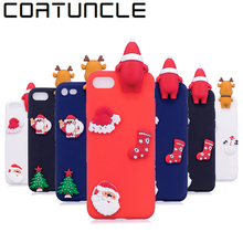 COATUNCLE Soft TPU Phone Case sFor iphone 8 Christmas 3D Dolls Toys Cartoon Cover For Fundas iphone 6 6S X 5 5S SE 7 8 Plus Case(China)