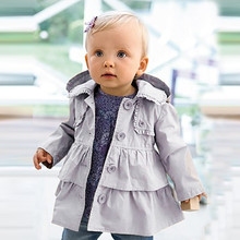 New Baby Girl  trench coats for girls Autumn Winter Hooded Warm Cotton Coat Childrens Kids Outwear Jacket girls winter coat 1-5T