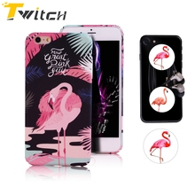 Twitch Flamingo POP Phone Case For iphone 6 case For iPhone 6 6s 7 Plus Cute Cartoon Cat Dog Colorful Animal Cover Coque Fundas