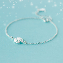 """Pure Love"" 925-sterling-silver Snowflake Charm Bracelet Women 