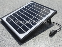 5W Solar Charger for Mobile Phones+USB Output+High Quality Mono Solar Panel Solar battery Charger power station+Free Shipping(China)