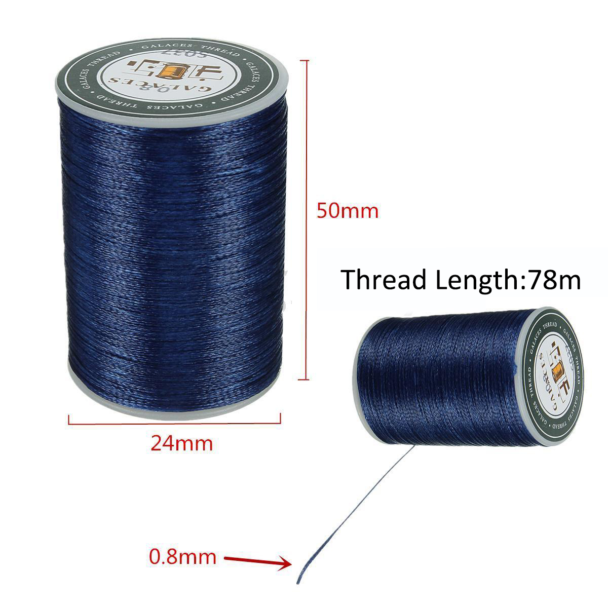 Mayitr Waxed Thread Repair Cord String Sewing Hand Wax Stitching DIY Thread 0.8mm* 78m For Leather Goods Shoes Hats Crafts