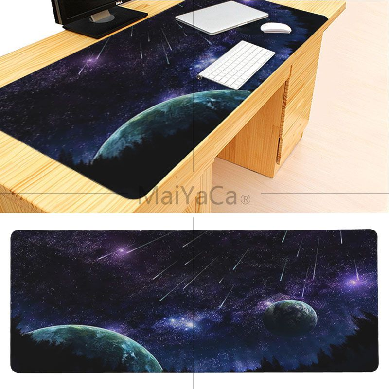 MaiYaCa Boy Gift Pad The Space Wallpaper Large Mouse pad PC Computer mat Good quality Locking Edge large Game Mouse Pad 7