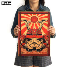 Blood Red Warrior Vintage posters Classic Style Kraft Paper Poster Vintage Decoration wall sticker painting MXC011 42x30cm(China)