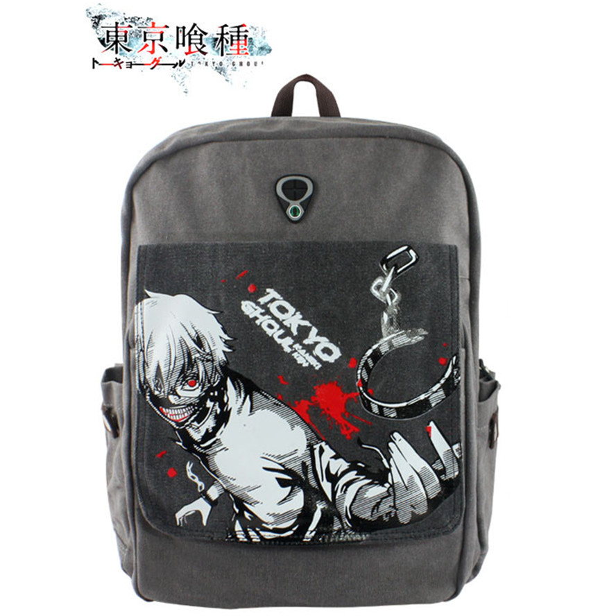 Anime tokyo ghoul Cosplay kaneki ken Canvas casual backpack students clamshell bags<br>