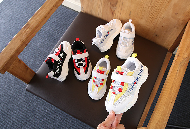 Autumn Children's Sports Shoes Soft Bottom Breathable White Footwear Kids Sports Running Shoes