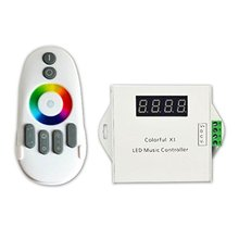 DC5V-24V RF touch remote music controller WS2811 /WS2812B /6812 /1903/6803 Magic LED tape digital colorful with Max 600pixels