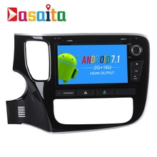 "Dasaita 8"" Android 7.1 Car GPS Player Navi for Mitsubishi Outlander 2014 with 2G+16G Quad Core No  DVD Radio Multimedia HDMI"