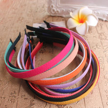 1PCS 10 mm woman head hair accessories tire candy color simple short hair band style of adult children(China)