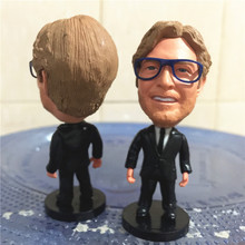 Soccerwe 2017 Season 2.55 Inches Height Football Coach Dolls La Liga RM Klopp Figure for Birthday Gift Black Suit(China)