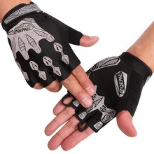 1 Pair Sport Gloves Reflective Bike Half Finger Cycling Mountain Bicycle Gloves Wrist with Velcro(China)