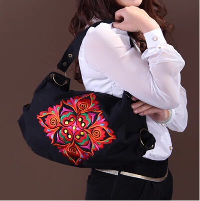 Free Shipping !New Hot Sale National trend bags embroidered embroidery bag multifunctional womens elegant canvas handbag<br>