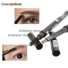 Makeup tool Eyebrow Tint with Eyelash brush Cosmetics Natural Long Lasting Paint Tattoo Eyebrow Waterproof Eyebrow Pencil(China)