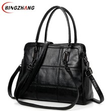 High Fashion Ladies Hand Bag Women's PU Leather Handbag Large Black Leather Tote Bag Bolsas Female Shoulder Bag L4-3109