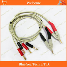 1 pcs good Low resistance test cable/ test Clip,banana plug test clip,LCR tester cable clip Free Shipping(China)