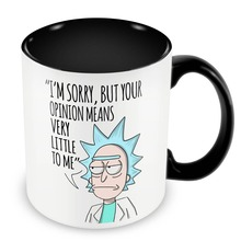 Rick and Morty Mugs inner black travel cup beer cup ceramic coffee mug tea cups friend gifts home decor porcelain cups(China)
