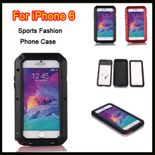 For iphone 6 Plus Luxury Extreme armor Weatherproof Metal alloy cell phone case support Touch ID function(China)