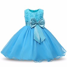 Girl Dress Birthday Party British Style Kids Clothes 2017 New Arrive Baby Flower Girls Apparel Dresses up Princess Costume(China)
