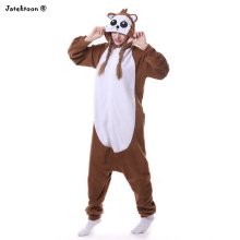 Adult Brown Monkey Costume For Men Women With Tail Cute Warm Thick Cosplay Costumes Fleece Animal Clothes Disfraces Adultos(China)