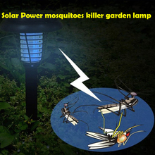 UV LED Solar Powered Outdoor Yard Garden Lawn Anti Mosquito Insect Pest Bug Zapper Killer Trapping Lantern Lamp Light with spike