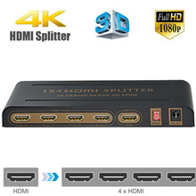 Aikexin HDMI Splitter 4K 4 Port HDMI to HDMI 1 in 4 out HDMI Signal Distributor with EDID MODES Support Ultra HD 4K,Full HD 3D(China)
